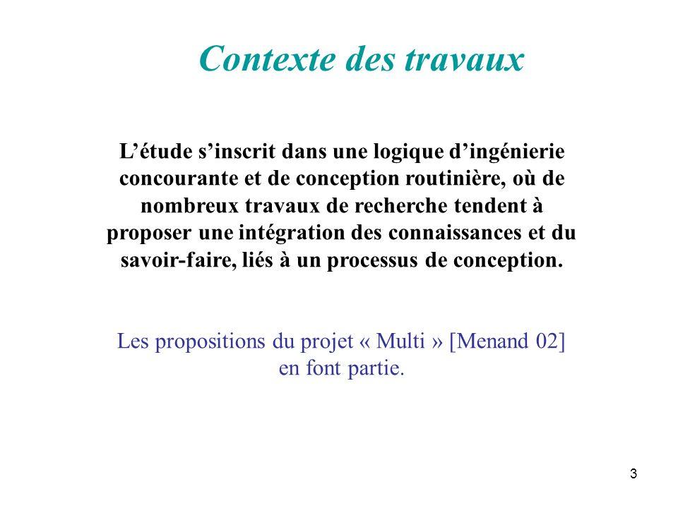 Les propositions du projet « Multi » [Menand 02] en font partie.